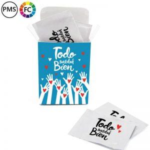 wetwipeshandenreinigingsdoekjes met eigen logo bedrukken vochtige doekjes per stuk verpakt 40 in box