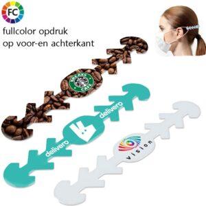 bandjes voor mondkapjes bedrukken met logo fullcolor