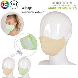 eigen gezichtsmaskers bedrukken katoen met eigen logo