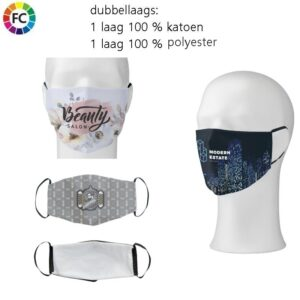 bedrukte mondkapjes bestellen met eigen logo gezichtsmaskers bestellen