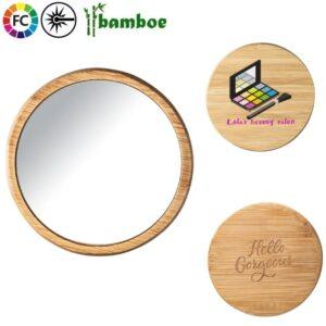 canza bamboe spiegeltjes bedrukken met logo promotiespiegeltjes