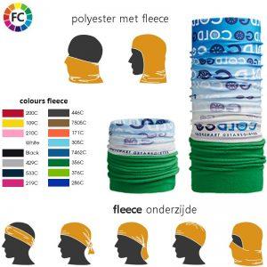 multiscarf met fleece bedrukken met eigen logo promotie multiscarfs