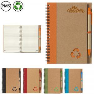 recycle note notitieboekjes van gerecycled papier bedrukken spiraalboekjes