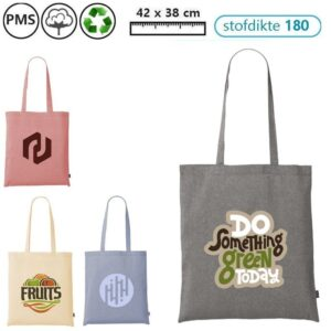 recycled cotton shopper tasjes bedrukken