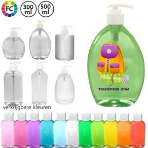 vloeibare zeep bedrukken bedrukte flessen zeep met logo bedrukt