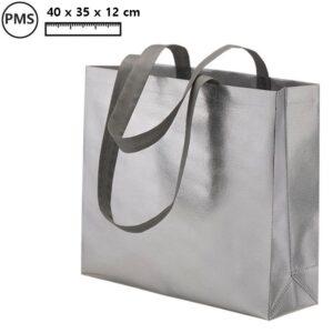 zilverkleurige tassen bedrukken met logo promotietassen in zilver sandy
