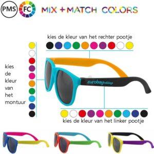 zonnebrillen bedrukken zelf de kleuren bepalen