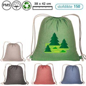 jason recycled katoenen rugzakjes met eigen logo bedrukt