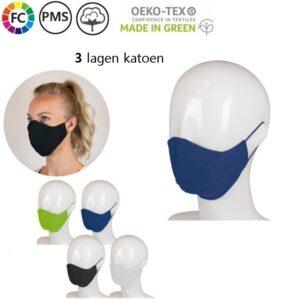 bedrukte gezichtsmaskers katoen bestellen mica