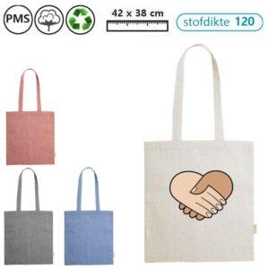 grace recycle katoenen schoudertasjes met logo