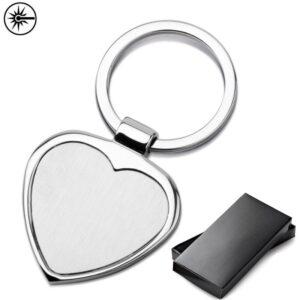 metalen hart sleutelhangers graveren met logo mapenzi