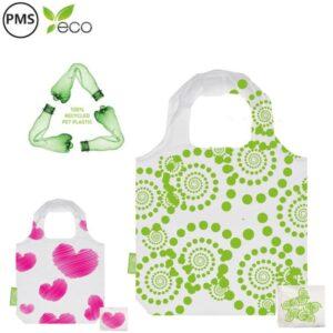 RPET bottlebags opvouwbare tasjes een pms kleur