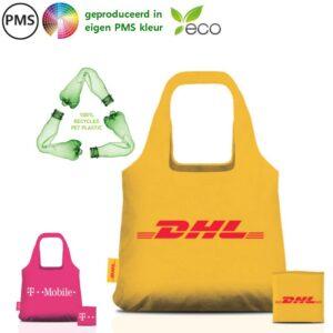 RPET bottlebags opvouwbare tasjes eigen PMS
