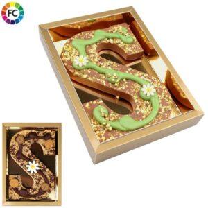 bedrukte chocoladeletters hand gedecoreerd voor bedrijven met logo