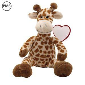bedrukte pluche giraffe knuffeldieren bedrukken