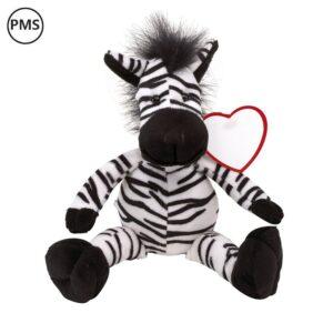 bedrukte pluche zebra knuffeldieren bedrukken