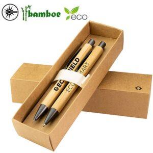 gegraveerde bamboe pennenset gindau