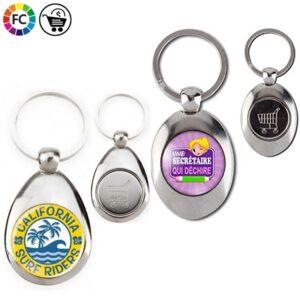 metalen sleutelhangers met winkelwagenmuntje bedrukken tienda