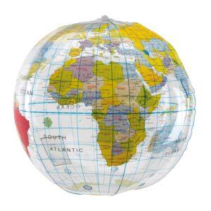 opblaasbare ballen wereldbollen bedrukken