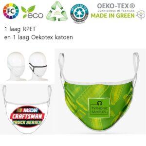 rpet bedruklte eco mondkapjes milieuvriendelijke gezichtsmaskers