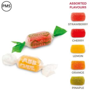 bedrukte snoepjes met logo soft sweets