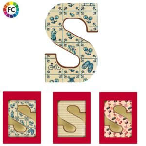 fullcolor bedrukte chocoladeletters printletters eigen chocoladeletters ontwerpen