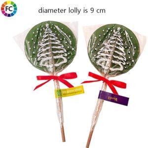kerstboom lollys bedrukken ronde lollies bedrukt met logo