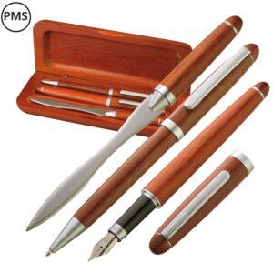 luxe houten pennenset bedrukken met logo Quatro