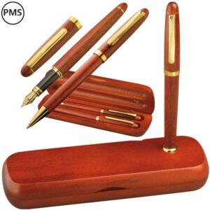 luxe houten pennensets bedrukken golda