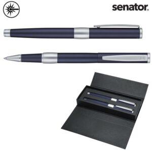 senator image chrome blue pennensets graveren