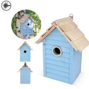 vogelhuisjes met logo bluebird